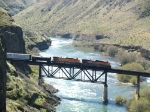 BNSF 5344 and 1095 Sum Up a Southbound in the Deschutes River Canyon